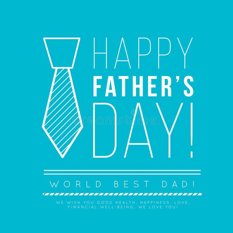 Giorno felice del ` s del padre Congratulazione nello stile alla moda di minimalismo con le forme geometriche illustrazione di stock