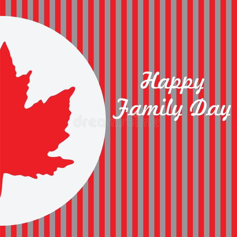 Giorno felice della famiglia - Canada illustrazione di stock