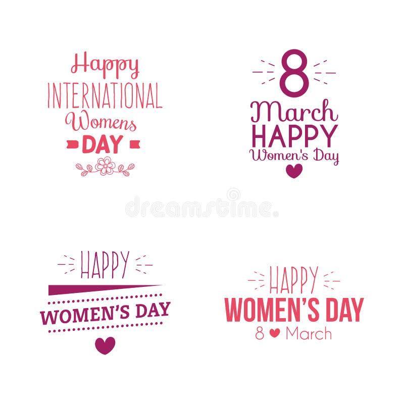 Giorno felice delle donne illustrazione di stock