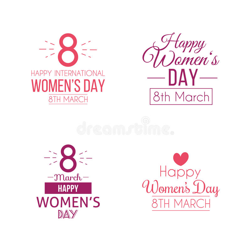 Giorno felice delle donne royalty illustrazione gratis