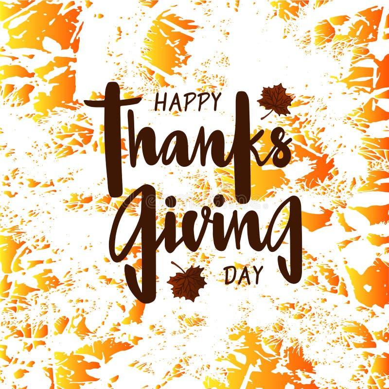 Giorno felice di ringraziamento per l'invito, cartolina d'auguri, cartolina, manifesto di tipografia illustrazione vettoriale