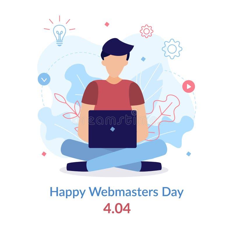 Giorno felice di webmaster royalty illustrazione gratis