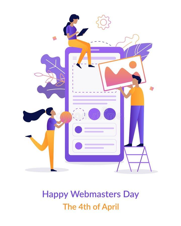 Giorno felice di webmaster illustrazione vettoriale