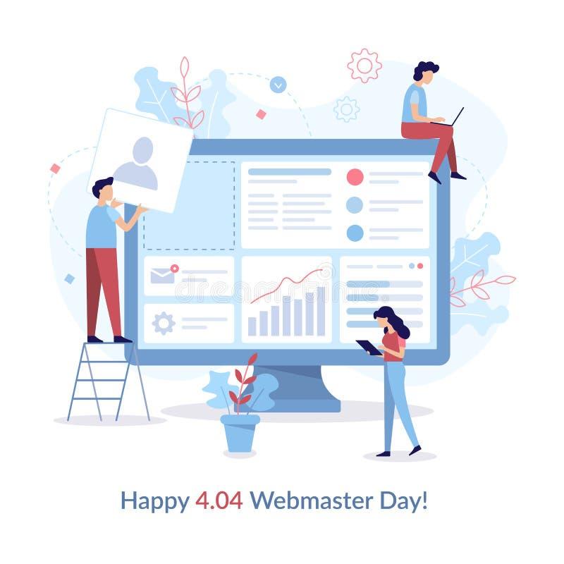 Giorno felice di webmaster illustrazione di stock