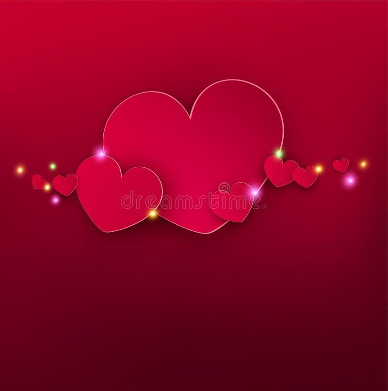 Giorno festivo del ` s del biglietto di S. Valentino del fondo di vettore royalty illustrazione gratis