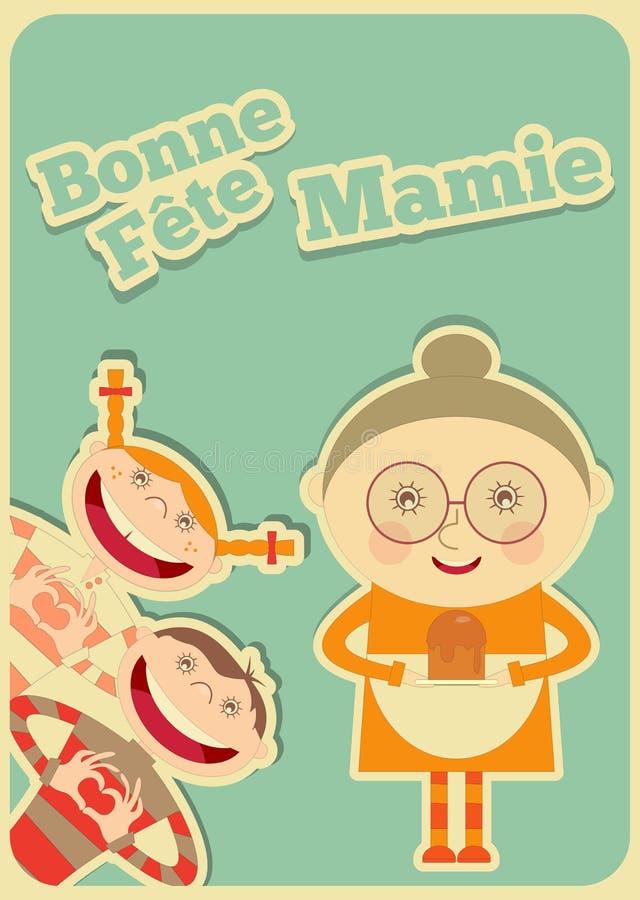 Giorno Francia della nonna illustrazione vettoriale