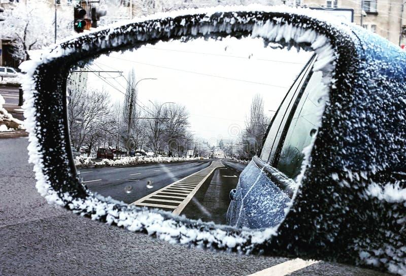 Giorno freddo a Bucarest Romania immagini stock