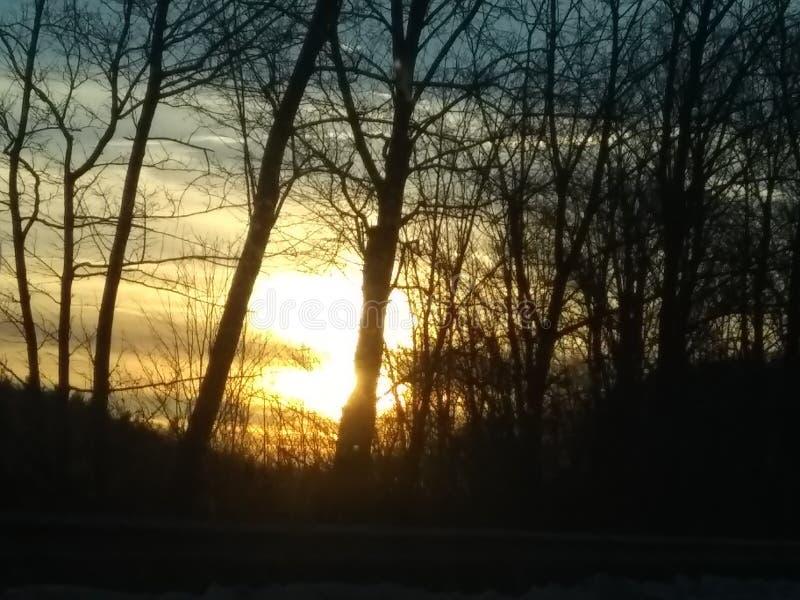 Giorno frigido di tramonto immagini stock libere da diritti