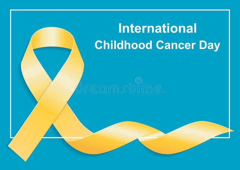 Giorno internazionale del Cancro di infanzia 15 febbraio illustrazione vettoriale