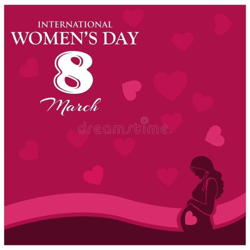 Giorno internazionale del ` s delle donne Giorno felice del `s della madre Illustrazione di vettore Progettazione piana illustrazione di stock
