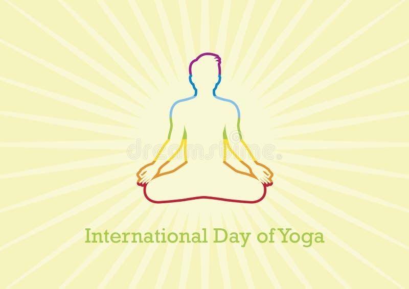 Giorno internazionale del vettore di yoga illustrazione di stock