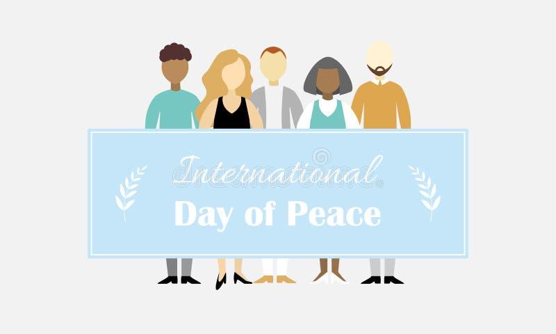 Giorno internazionale dell'illustrazione di vettore di pace illustrazione di stock