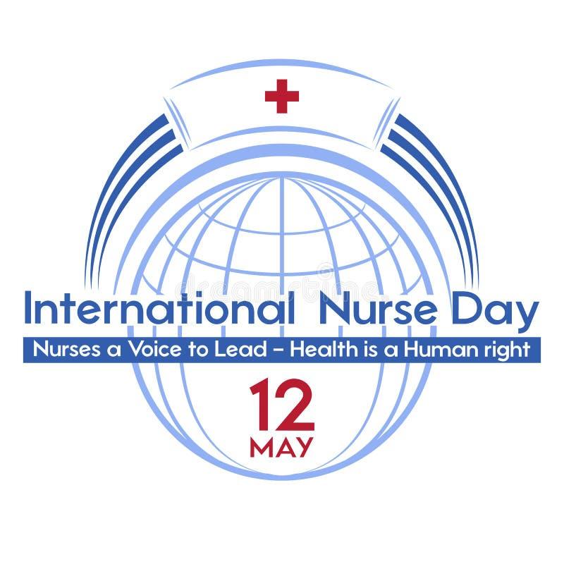 Giorno internazionale dell'infermiere una cartolina, un manifesto o un'insegna per la festa immagine stock