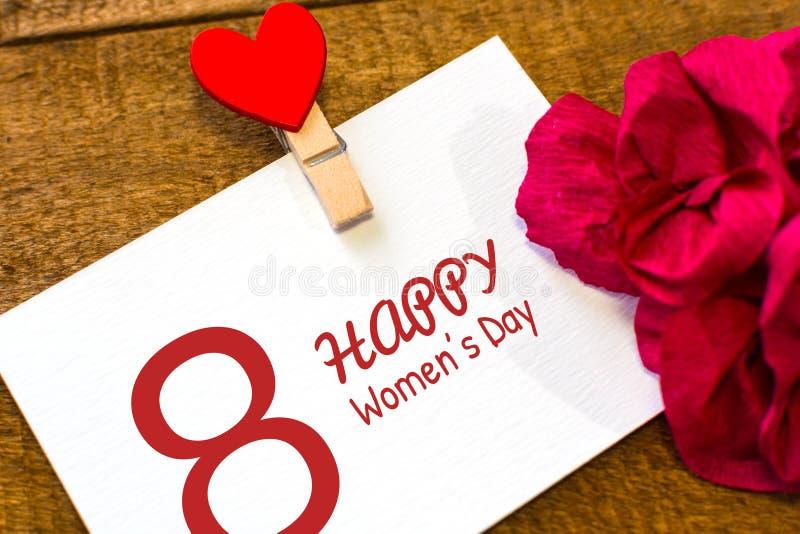 Giorno internazionale delle donne Cartolina d'auguri immagini stock