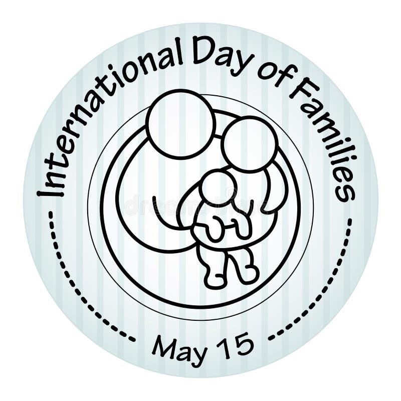 Giorno internazionale delle famiglie 15 maggio Icona della famiglia illustrazione di stock