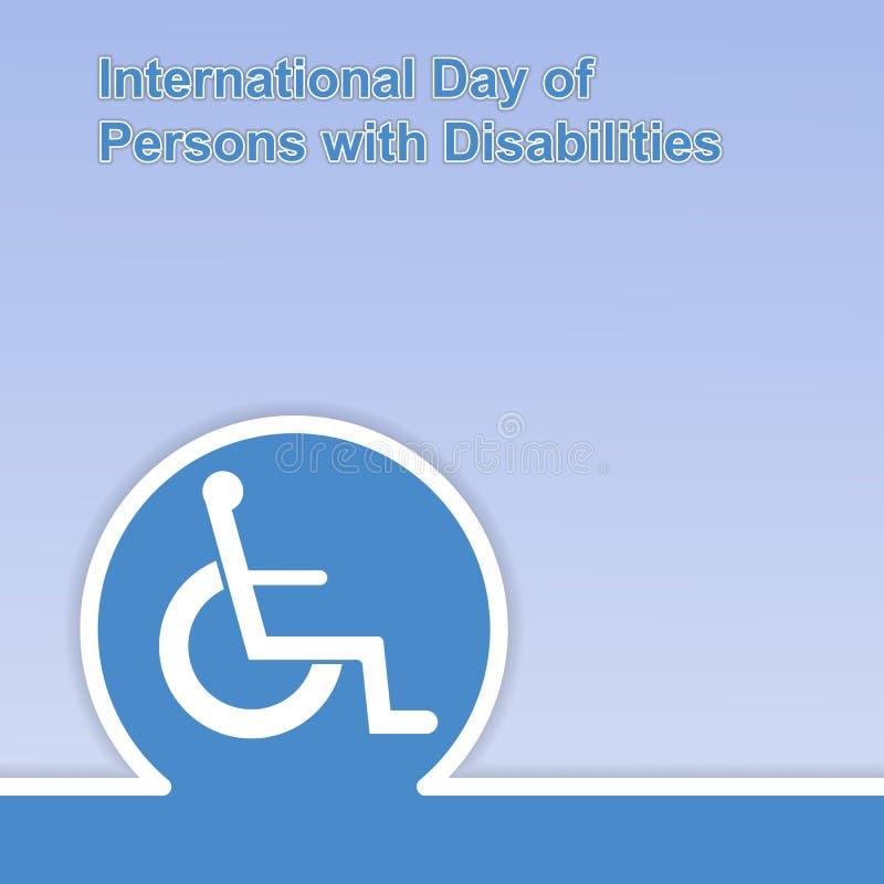 Giorno internazionale delle persone con le inabilità 3 dicembre royalty illustrazione gratis