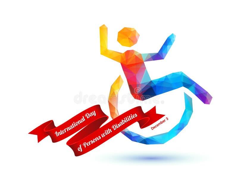 Giorno internazionale delle persone con le inabilità - 3 dicembre royalty illustrazione gratis