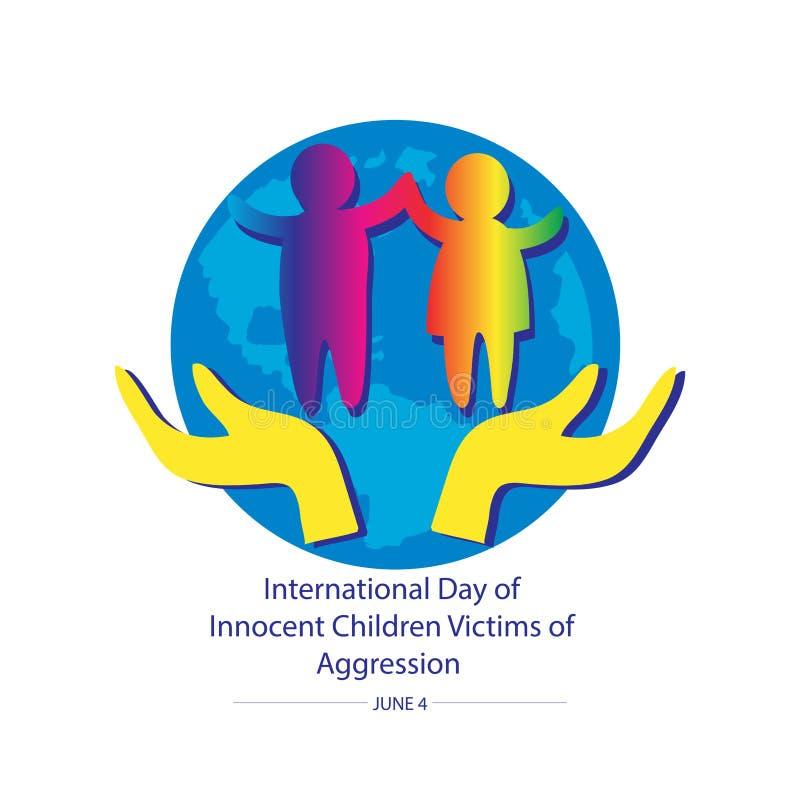 Giorno internazionale delle vittime innocenti dei bambini di aggressione royalty illustrazione gratis
