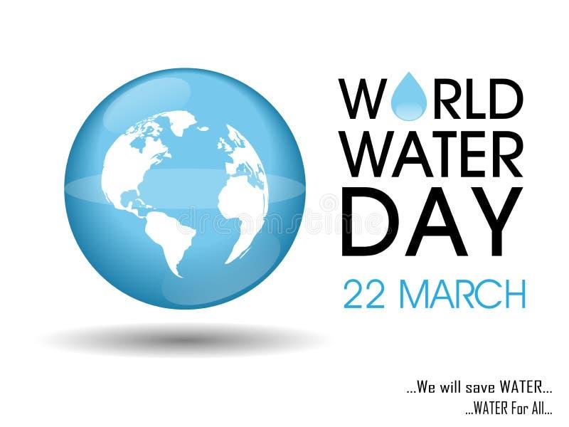 Giorno internazionale di acqua fotografia stock