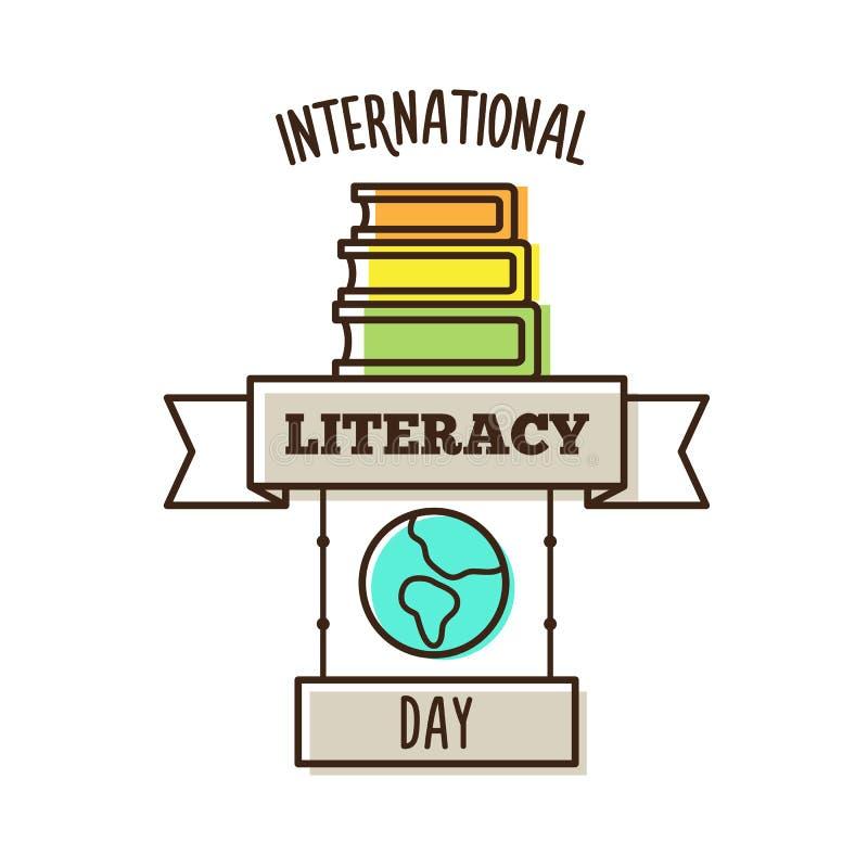 Giorno internazionale di alfabetizzazione Illustrazione di vettore illustrazione vettoriale