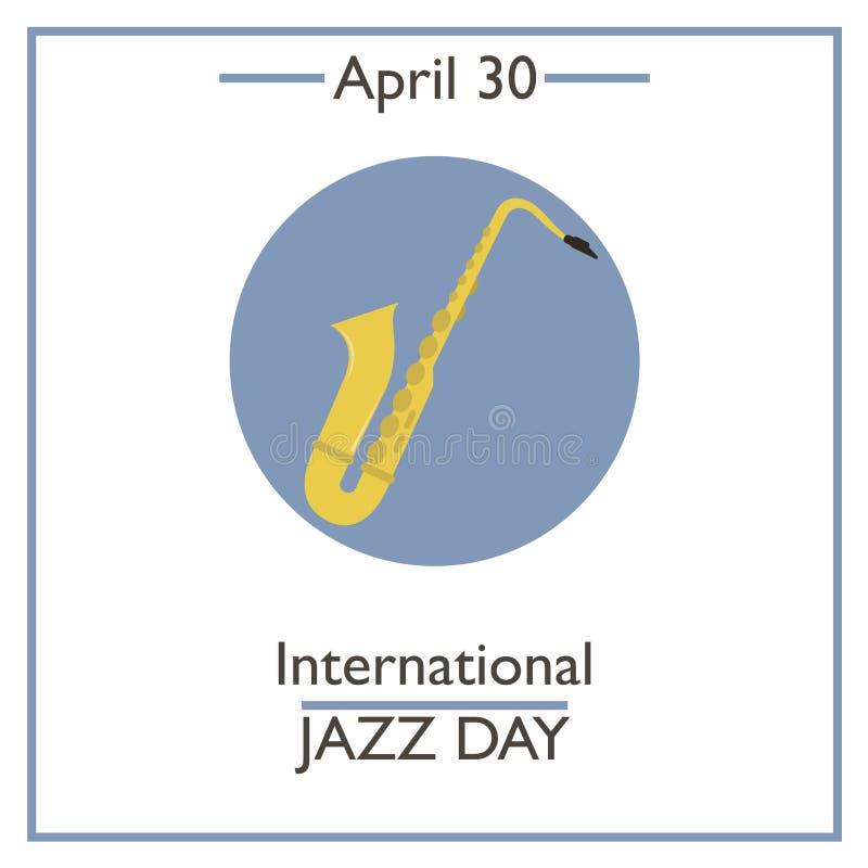 Giorno internazionale di jazz, il 30 aprile illustrazione vettoriale