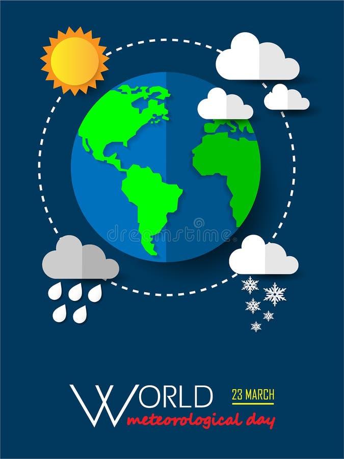 Giorno meteorologico del mondo fotografia stock