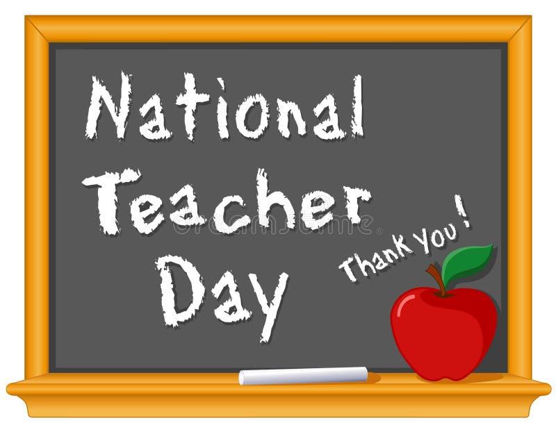 Giorno nazionale dell'insegnante illustrazione vettoriale