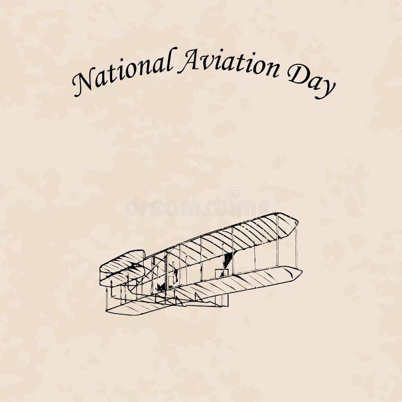 Giorno nazionale di aviazione illustrazione di stock