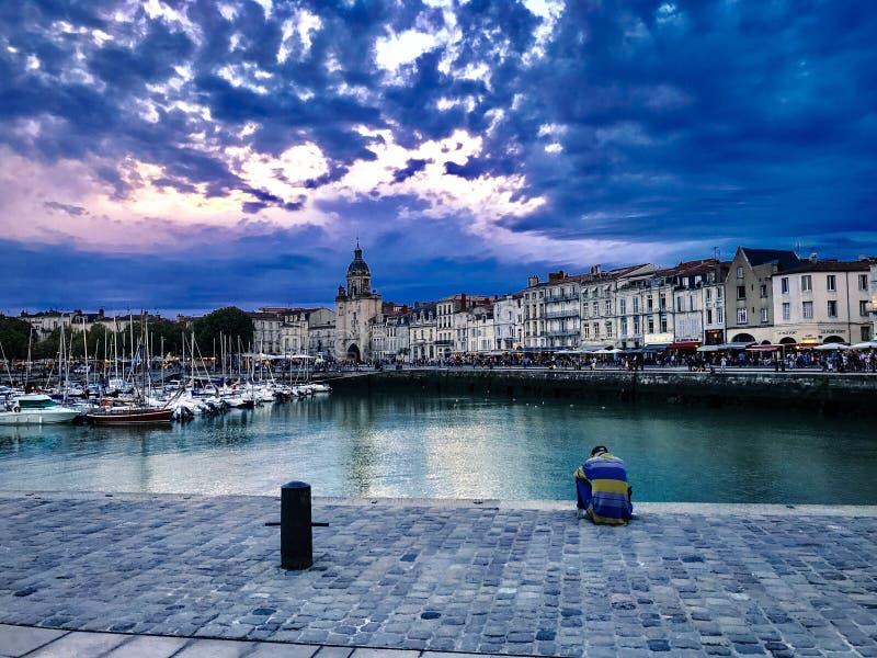 Giorno nuvoloso a La Rochelle, la Francia fotografia stock