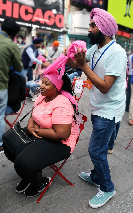 Giorno NYC del turbante fotografie stock libere da diritti