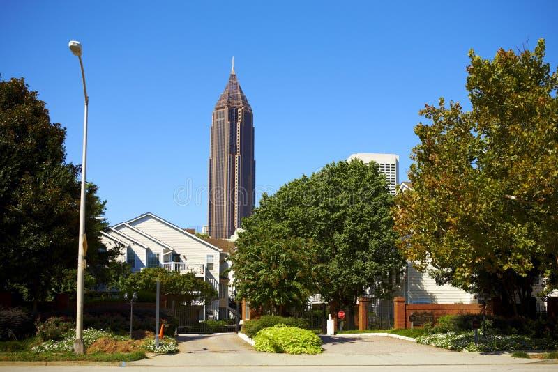 Giorno pieno di sole a Atlanta. fotografie stock libere da diritti