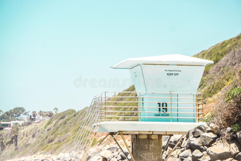 Giorno pieno di sole della spiaggia fotografie stock