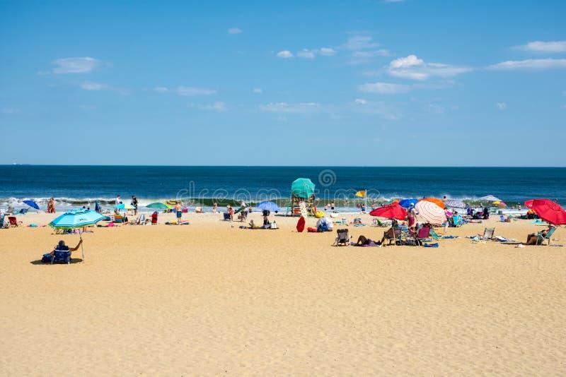 Giorno pieno di sole della spiaggia fotografia stock
