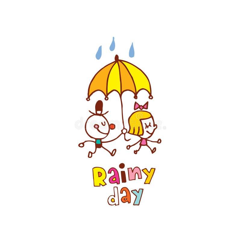 Giorno piovoso illustrazione di stock
