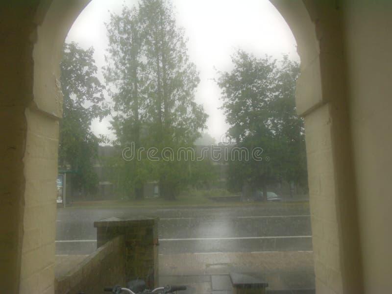 Giorno piovoso a Cambridge fotografia stock