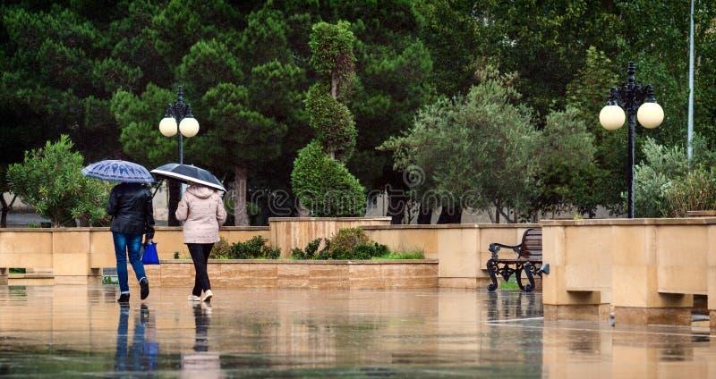 Giorno piovoso di autunno fotografie stock