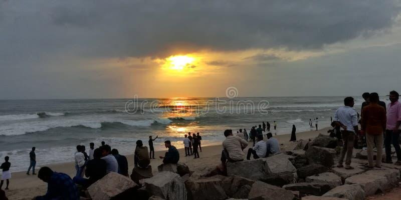 Giorno piovoso di mattina del Kerala immagini stock