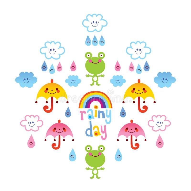 Giorno piovoso illustrazione vettoriale