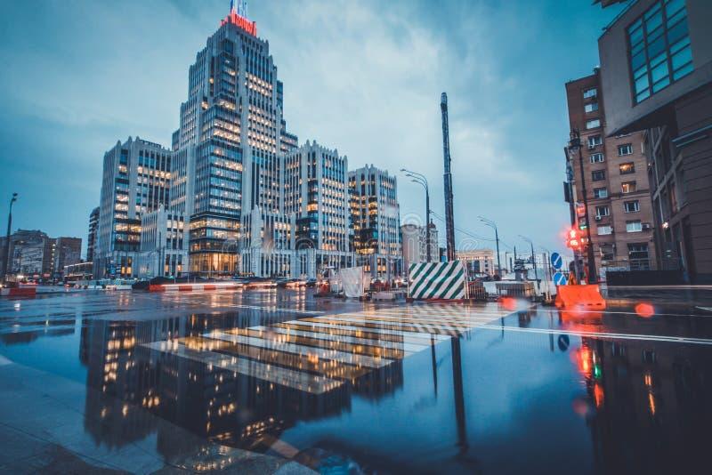 Giorno piovoso a Mosca immagini stock libere da diritti