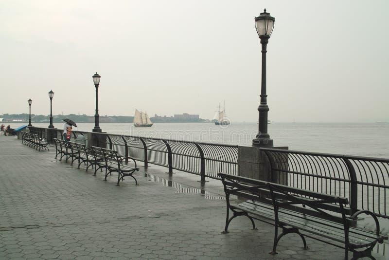 Giorno piovoso in New York fotografia stock