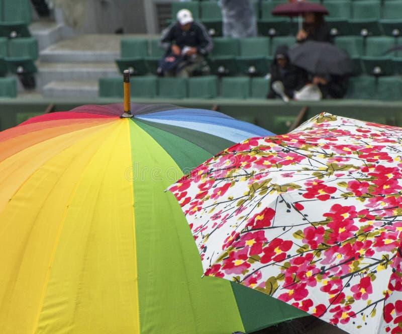 Giorno piovoso a Roland Garros immagini stock libere da diritti