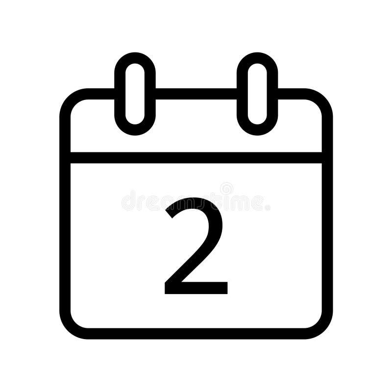 Giorno solare un'icona di due date illustrazione vettoriale