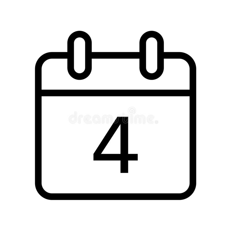 Giorno solare un'icona di quattro date illustrazione vettoriale