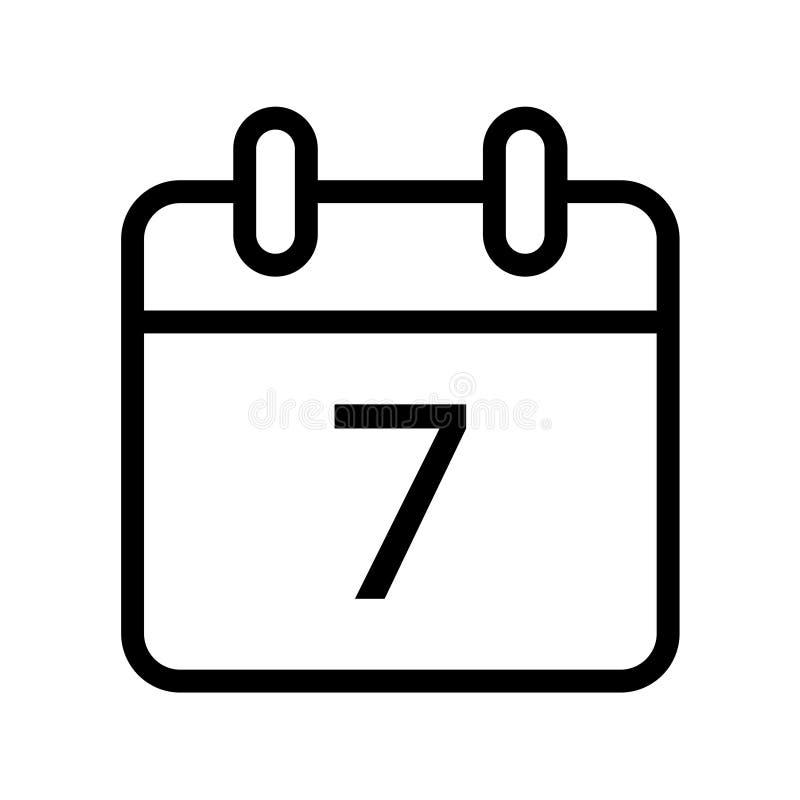 Giorno solare un'icona di sette date royalty illustrazione gratis