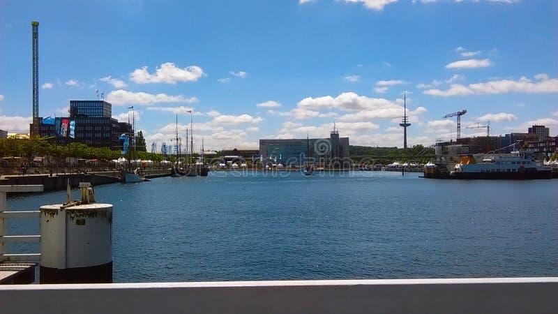 Giorno soleggiato a Kiel il Mar Baltico immagine stock libera da diritti