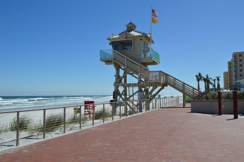 Giorno ventoso che guarda la spiaggia fotografia stock