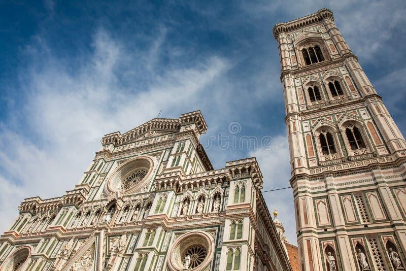 Giotto Glockenturm und Florence Cathedral widmeten im Jahre 1436 stockbild