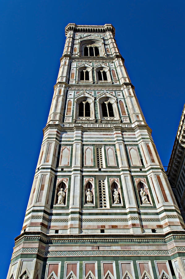 Giotto's Campanile. The back side of Giotto's Campanile in florence royalty free stock photo