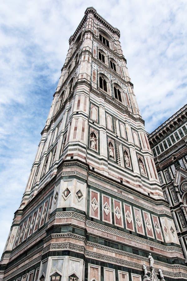 Giottos Campanile i Florence, Tuscany, Italien, kulturell heritag arkivbild