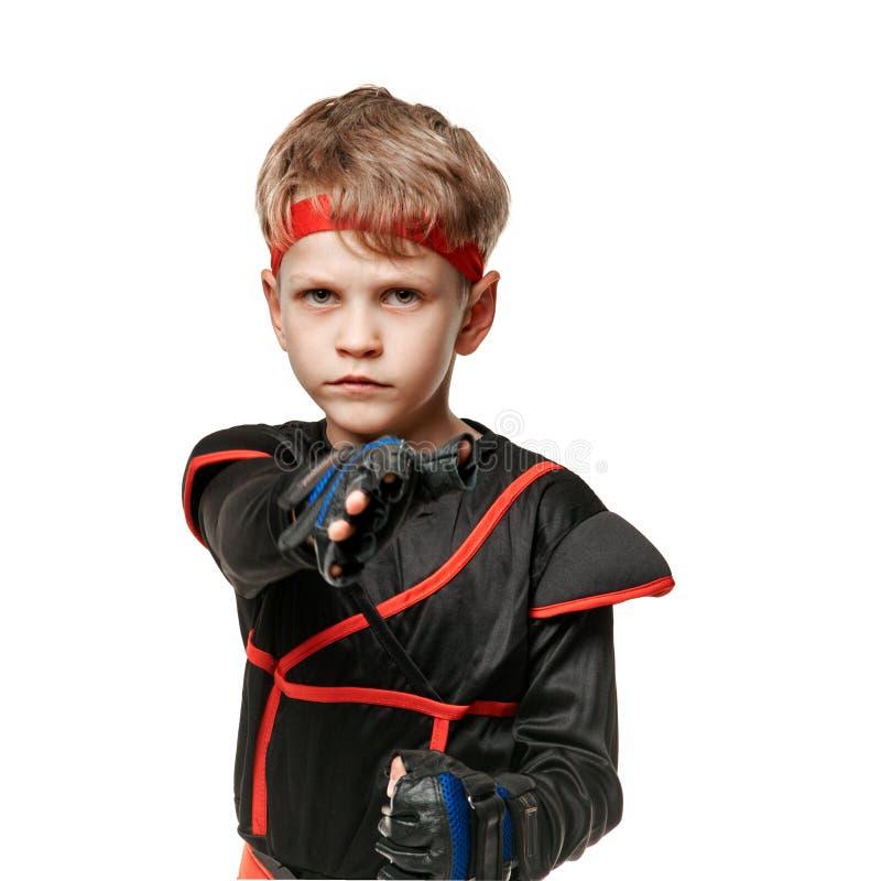 Giovane addestramento di ninja immagine stock libera da diritti